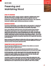 Preserving and Maintaining Wood