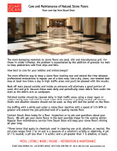 Care and Maintenance of Natural Stone Floors