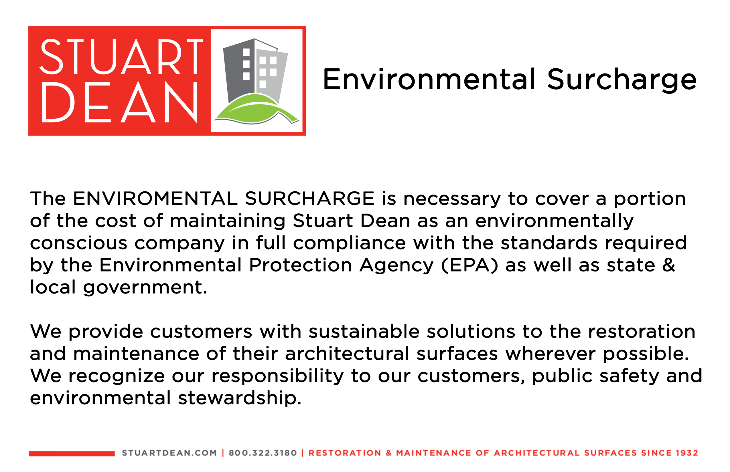 Environmental Surcharge